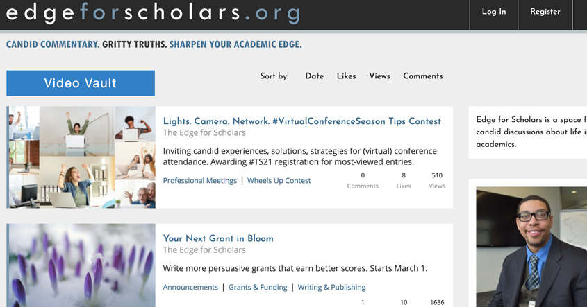 Edge For Scholars website